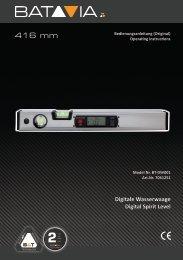 Handleiding Digitale Waterpas - 416mm met verlicht Afleesvenster