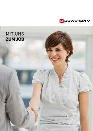 Mit uns zum Job / Broschüre Powerserv