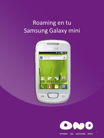 Activa el roaming en tu Samsung Galaxy Mini - Ono