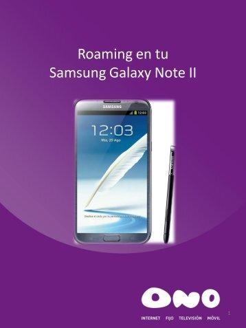 Activa el roaming en tu Samsung Galaxy Note - Ono