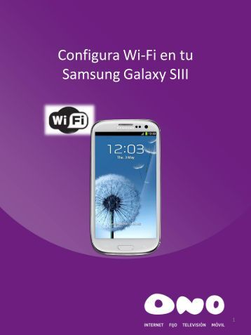 Configura Wifi en tu Samsung Galaxy SIII - Ono