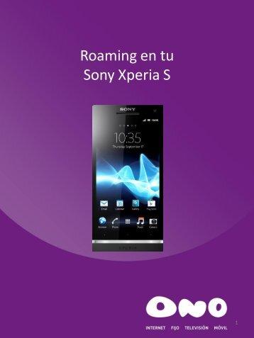 Activa el roaming en tu Sony Xperia S - Ono