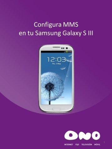 Configura MMS en tu Samsung Galaxy SIII - Ono