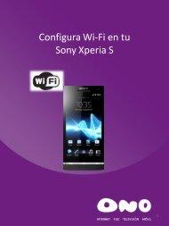 Configura WiFi en tu Sony Xperia S - Ono