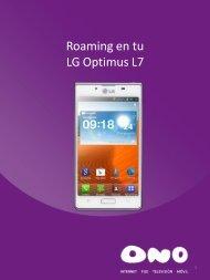 Activa el roaming en LG L7 - Ono