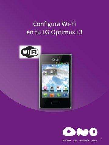 Configura WiFi en tu LG L3 - Ono