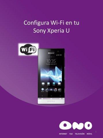 Configura WiFi en tu Sony Xperia U - Ono
