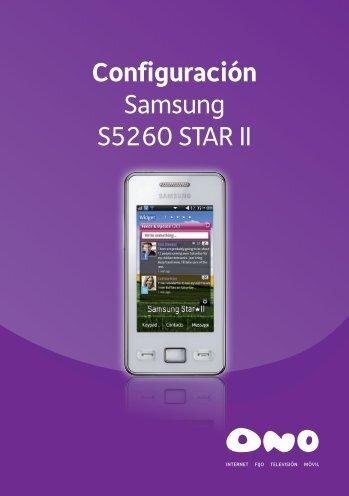 Configuración Samsung S5260 STAR II - Ono