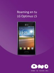 Activa el roaming en LG L5 - Ono