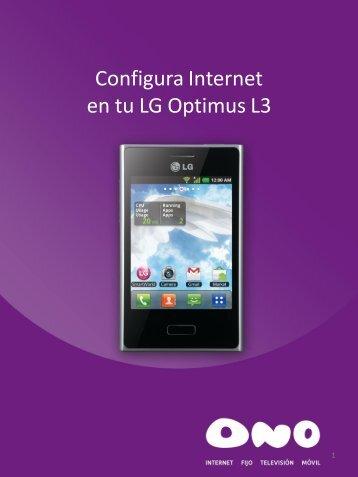 Configura Internet en tu LG L3 - Ono