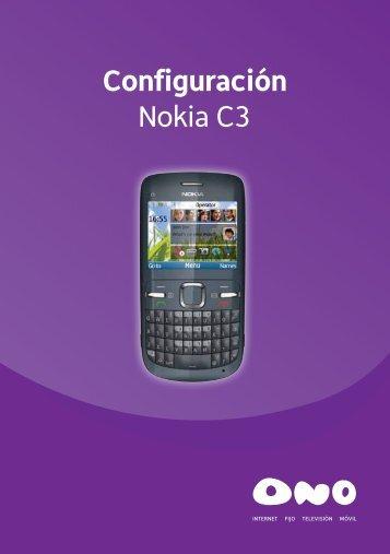 Configuración Nokia C3 - Ono