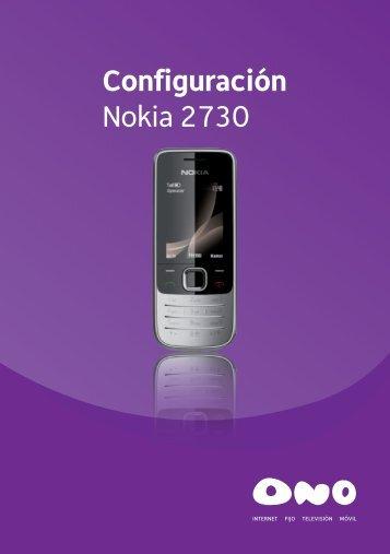 Configuración Nokia 2730 - Ono