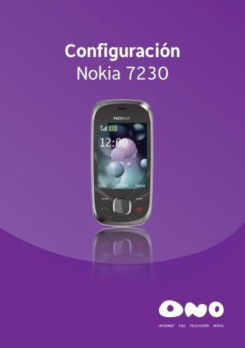 Configuración Nokia 7230 - Ono