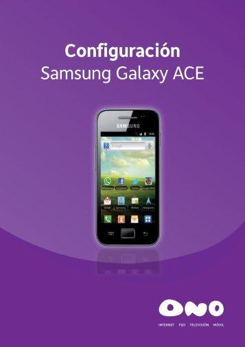 Configuración Samsung Galaxy ACE - Ono