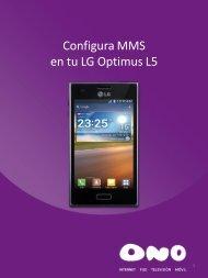 Configura MMS en tu LG L5 - Ono