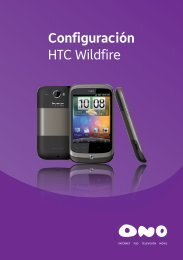 Configuración HTC Wildfire - Ono