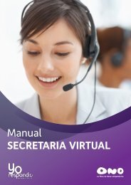 Manual SECRETARIA VIRTUAL - Ono