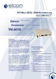 NT1+MULTI 2B1Q–ISDN-NETZABSCHLUSS ... - Elcon Systemtechnik