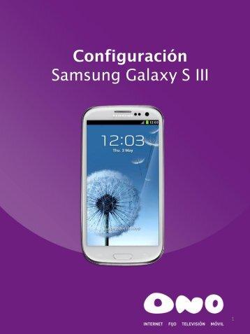 Samsung Galaxy SIII - Ono