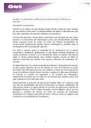 conclusiones, potenciales riesgos y principales ... - Ono