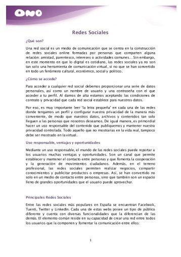 Redes Sociales - Ono