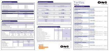 Tarifas - Ono