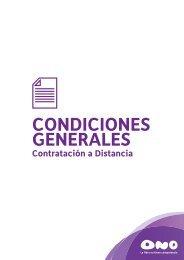 Condiciones generales - Ono