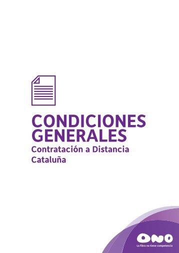 Condiciones generales Cataluña - Ono