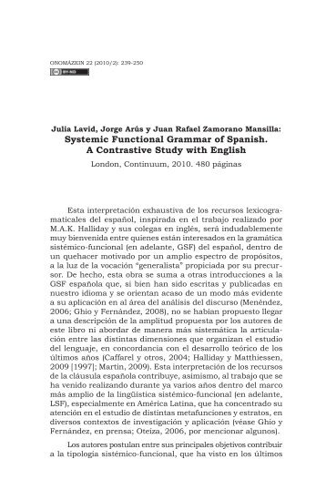 Julia Lavid, Jorge Arús y Juan Rafael Zamorano Mansilla - Onomázein