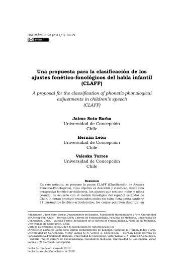 Una propuesta para la clasificación de los ajustes ... - Onomázein