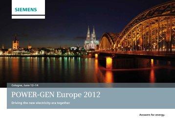 POWER-GEN Europe 2012 Cologne, June 12–14 - Siemens