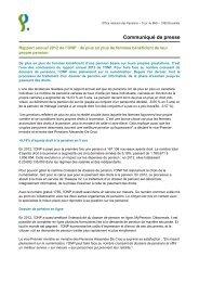 Rapport annuel 2012 de l'Office national des Pensions