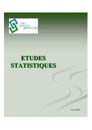 Etudes statistiques - Chapitre 3 - ONP