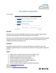 JSB Market Research: Ultra HNWIs in Japan 2014