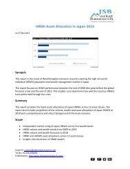 JSB Market Research: HNWI Asset Allocation in Japan 2014