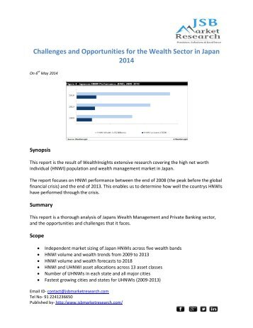 JSB Market Research: Challenges and Opportunities for the Wealth Sector in Japan 2014