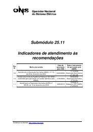 Submódulo 25.11 Indicadores de atendimento às ... - ONS
