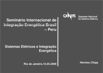 Seminário Internacional de Integração Energética Brasil – Peru - ONS