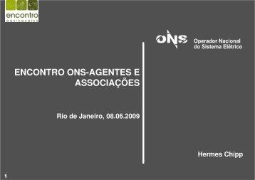 Encontro ONS-Agentes e Associações.