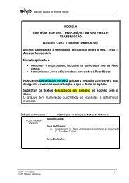 MODELO CONTRATO DE USO TEMPORÁRIO DO SISTEMA ... - ONS