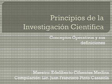 Principios de la Investigación Científica - onsec