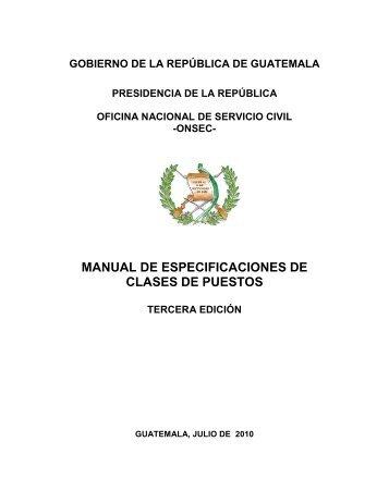 onsec- manual de especificaciones de clases de puestos