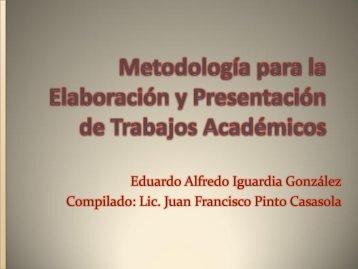 Metodología para la Elaboración y Presentación de ... - onsec