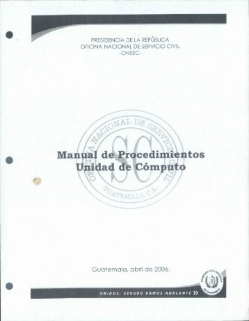 Manual de Procedimientos Unidad de Computo - onsec