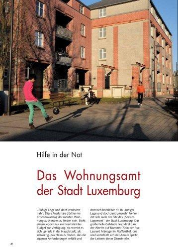 Das Wohnungsamt der Stadt Luxemburg - Ons Stad