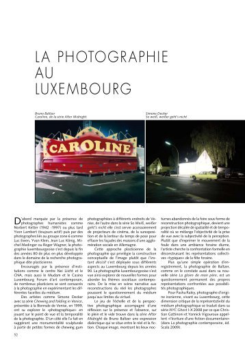 LA PHOTOGRAPHIE AU LUXEMBOURG - Ons Stad