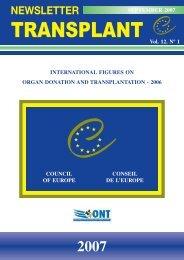 newsletter transplant 2007 - Organización Nacional de Trasplantes