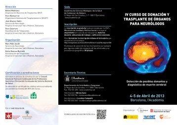 ProgramaNeuro - Organización Nacional de Trasplantes