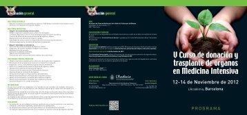 tríptico donacion ESP 2012 - Organización Nacional de Trasplantes