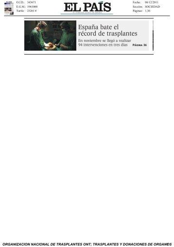 El PAIS Record - Organización Nacional de Trasplantes